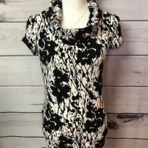 Express Cowl Neck Floral Top